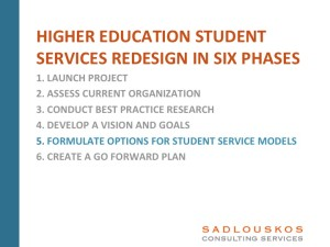 Student Services Redesign Phase 5