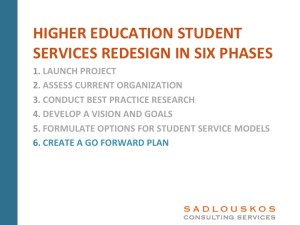 Student Services Redesign Phase 6
